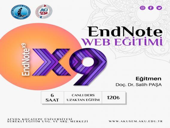 Akademik Çalışmalarda EndNote Web Kullanımı Eğitimi