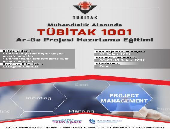 MÜHENDİSLİK ALANINDA TÜBİTAK 1001 AR-GE PROJESİ HAZIRLAMA EĞİTİMİ