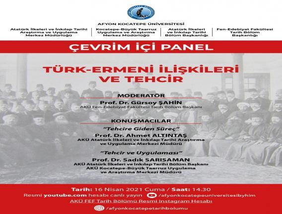 Türk Ermeni İlişkileri ve Tehcir