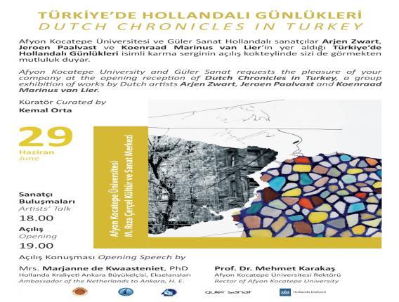 """""""Türkiye'de Hollandalı Günlükleri"""" Adlı Uluslararası Karma Sergi"""