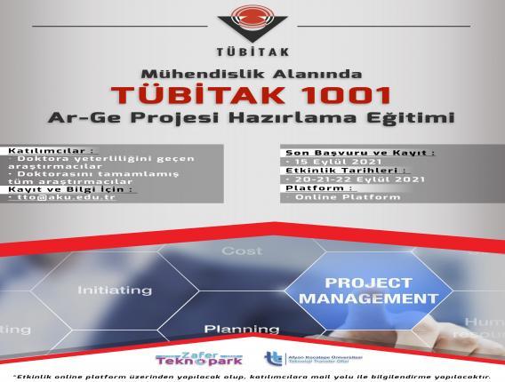Mühendislik Alanında TÜBİTAK 1001 AR-GE Projesi Hazırlama Eğitimi
