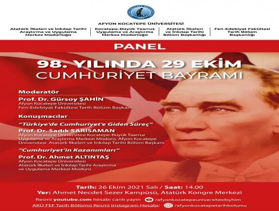 98. Yılında 29 Ekim Cumhuriyet Bayramı Paneli